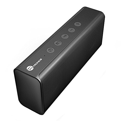 TaoTronics Pulse X Bluetooth Speaker Bluetooth 4.2 14W Wireless Portable Stereo with Two Acoustic Drivers, Strong Bass, High Definition Audio, Built-