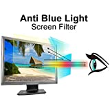 Pavoscreen Anti Blue Light Screen Filter for 24 inch Computer Monitors,Protects Eyes [Reduce Eye Fatigue and Eye Strain] Bubble Free Widescreen Screen Protector(16:9)