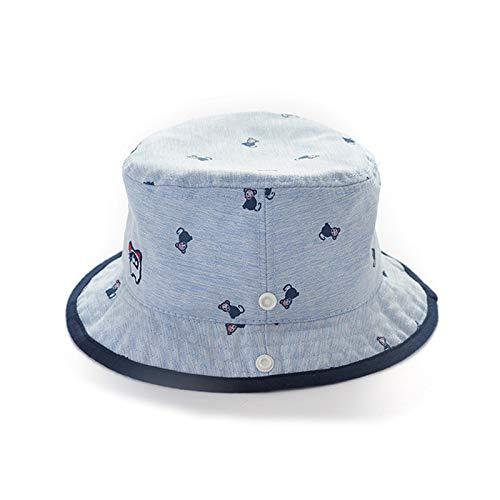 Scrox 1x Ni/ños Beb/é Sombrero Protector Solar Paja Playa Gorro Sol Lindo Cubo Sombrero de Pescador B/éisbol Transpirable Gorro de algod/ón beb/é Primavera y oto/ño 43-45cm