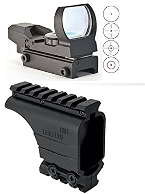 IMI Defense Rail Scope Mount Black + Ultimate Arms Gear Reticle Red Dot Open Reflex Sight Scope Fits Taurus & Springfield Armory XDM 3.8 4.5 XD XDS by Ultimate Arms Gear