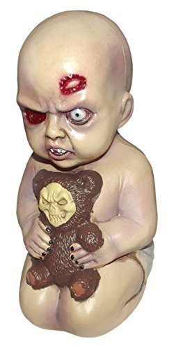 [Forum Novelties Evil Baby with Teddy Bear Halloween Prop Decoration] (Scary Decorations)