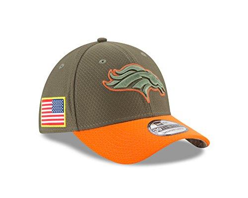 "Denver Broncos New Era NFL 39THIRTY 2017 Sideline ""Salute to Service"" Hat"