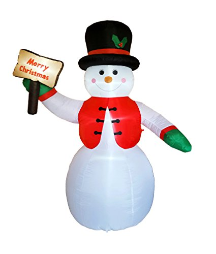Price comparison product image DreamOne 8.5 ft Christmas Inflatable Snowman for Christmas Decoration