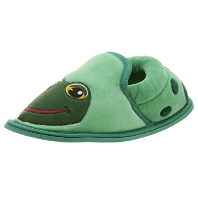 Western Chief Frog Slipper with Sole (Toddler/Little Kid/Big Kid),Olive Green,2-3 M Little Kid