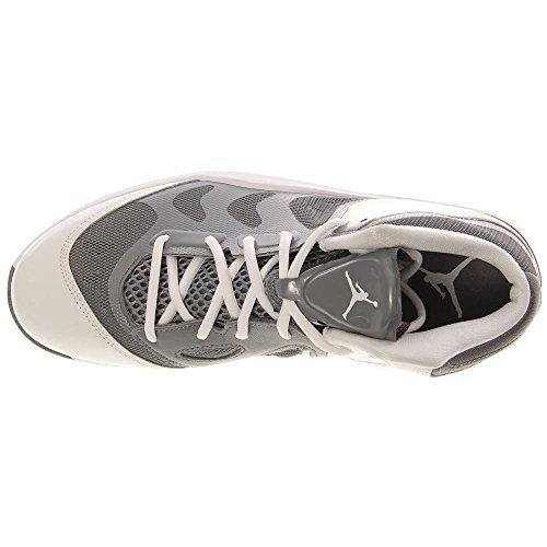 Nike, Scarpe Basket uomo Grau/Silber-Weiß 42.5