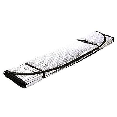 ACTLATI Foldable Car Front Rear Window Sunshade Aluminium Foil UV Reflecting Sun Shade Visor Shield Cover