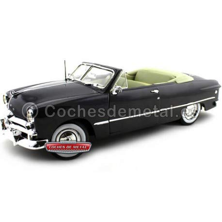 Car Blue Diecast Metallic (Maisto 31682METBL 1949 Ford Convertible Metallic Blue 1/18 Diecast Model Car)