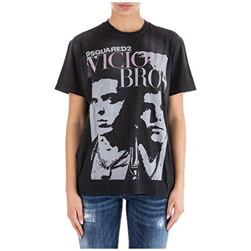 Nero Vicious Bros Mujer Dsquared2 Camiseta WIPqHH