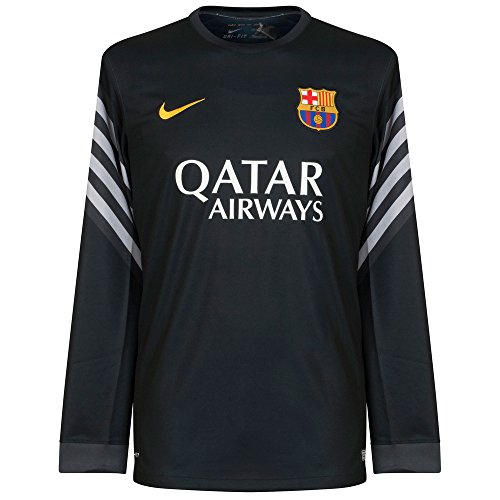 2015-2016 Barcelona Home Nike Goalkeeper Shirt (Black)