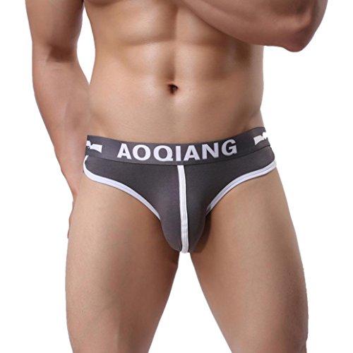 Men's Underwear,Neartime Mens Boxers Pouch Shorts Underpants Sleepwear (M, Gray)