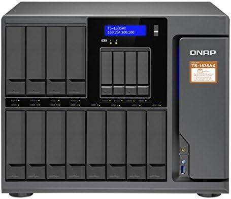 QNAP TS-1635AX-4G-US 12+4 Bay, Marvell Armada 8040 Quad-core 1 6GHz, 4GB  DDR4 RAM, 2X M 2 2280 SATA Slots, 2X 10GbE SFP+ LAN, 2X GbE LA