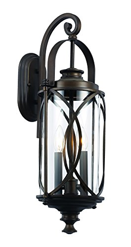 Trans Globe Lighting 40411 ROB Outdoor Fiesta 24'' Wall Lantern, Rubbed Oil Bronze by Trans Globe Lighting