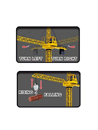 """Chi Mercantile 50"""" Tall Wired Remote Controlled Construction Site Equipment RC Crawler Crane with Tower Light and Adjustable Height"""