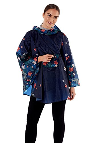 Pro Mujer Floral Para Blue Climate Hibiscus Chaqueta Envolvente AaqrIa