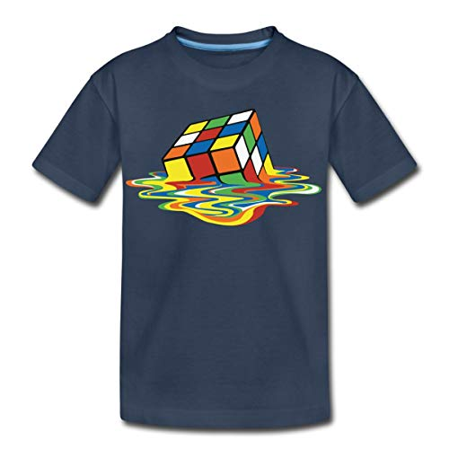 Spreadshirt Melting Rubik's Magic Cube Teenage T-Shirt