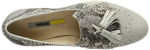 Manas Women's Maratea Moccasins Off-white (Avorio+grigio Off-white) big discount sale online buy cheap from china cheap sale outlet choice 2kOACC