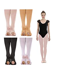 iMucci Ballet Dance Tights - Convertible and Full Footed Ballerina Dancing Stockings …