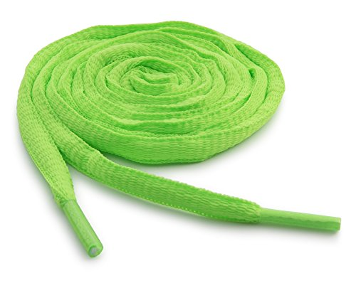 OrthoStep Oval Athletic Neon Green 36 inch Shoelaces 2 Pair Pack