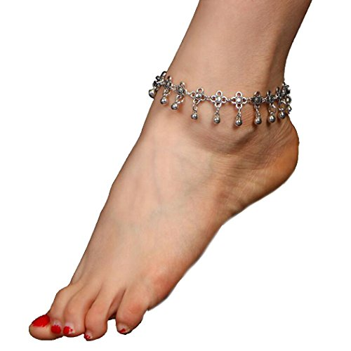 Jovono Bohemian Anklets Simple Metal Water Drop Fringed Hollow Carved Vintage Anklet Beach Foot Chain Bracelets for Women and Girls(1 PCS)