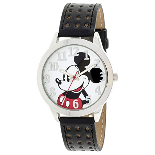 New Gift Disney Mickey Mouse Men's Character Leather Band Watch MCKAQ1421 (Disney Characters Male)