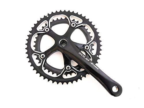 lundeng Haomeng PROWHEEL Road Folding Bike Aluminum Alloy Square Hole Sprocket Wheel 7//8 Speed 16-Speed Crank 52-42T Tooth Plate