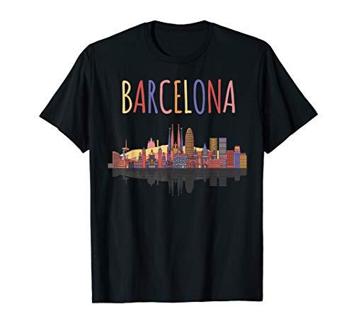 Colorful Family Shirt European Tee Travel in Barcelona Spain ()