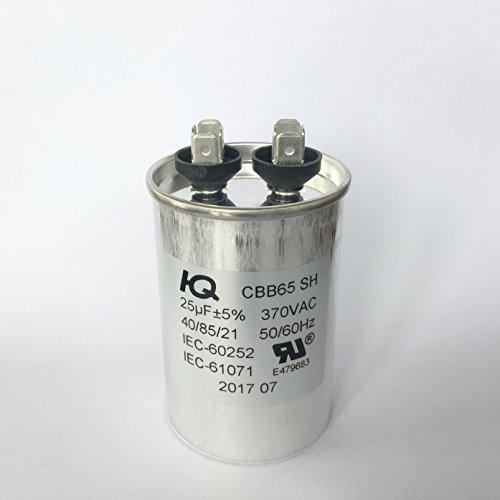 (QX6525 Capacitor Motor Run Round 25 uF MFD 370V)