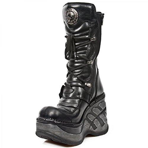 New Rock Boots M.sp9873-c1 Gotico Hardrock Punk Damen Stiefel Schwarz