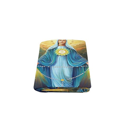 Thanksgiving/Christmas Gifts Christian Religious Virgin Mary Warmer Winter Fleece Throw Plush Blanket 40 x 50 inches (Small)