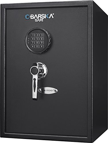 (BARSKA 1.45 Cubic Ft Large Steel Security Keypad Safe Lock Cabinet 13 in x 13.75 in x 19.75 in)