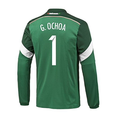 Adidas G. OCHOA #1 Mexico Home Jersey World Cup 2014 (Long Sleeve) (S) by adidas