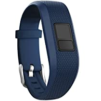SKYLET Garmin vivofit 3 Silicone Replacement Bands with Secure Watch Clasp (No Tracker) (Navy, Standard (6.0-9.0 in))