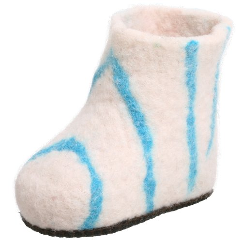 Satch & Sol Infant/Toddler Booties Slipper,White/Blue,5 M US - Blue Satch