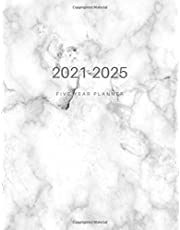 2021-2025 Five Year Planner: Daily, weekly and Monthly Calendar schedule, appointment book, agenda organizer and academic planner