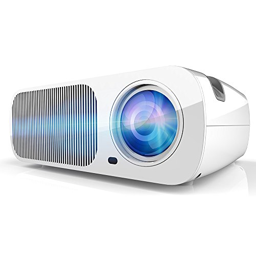 JAVION LED 3200 Lumens Projector Home Cinema Theater Support USB/HDMI/TV or DTV/AV/VGA/Audio White