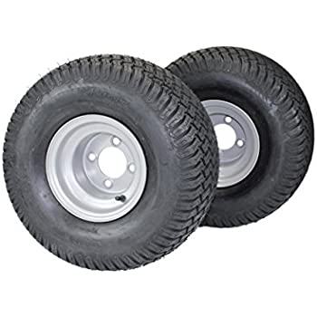 Antego Tire U0026 Wheel (Set Of 2) 20x10.00 8 Tires U0026 Wheels 4 Ply For Lawn U0026  Garden Mower Turf Tires