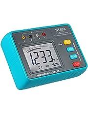 Testador, Tomshin DT60A Testador de Resistência de Isolamento de Alta Tensão Operado a Bateria LED Digital Ohmímetro Megômetro Megômetro Megômetro Medidor de resistência para medição de isolamento 1MΩ-20GΩ com cabos de teste / clipes