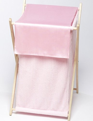 Sweet Jojo Designs Baby and Kids Clothes Laundry Hamper - Pink Chenille and Satin [並行輸入品]   B07BFSCKLZ