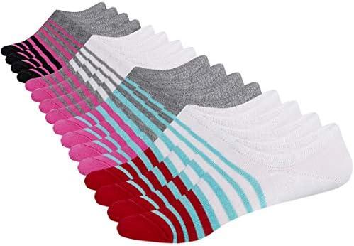 SIXDAYSOX Men 8 Pairs No Show OdorResistant Non Slip Socks Shoe Size 611