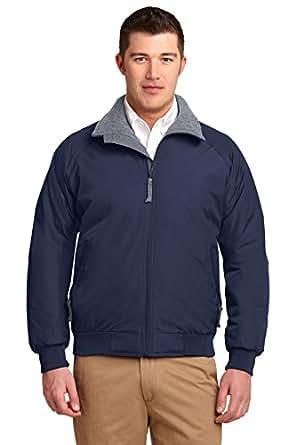 Port Authority Men's Nylon Competitor Jacket, XS, True Navy/Grey Heather