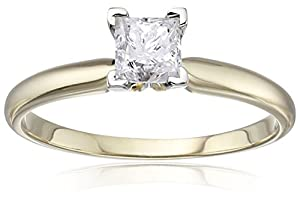 14k Gold Princess Solitaire Diamond Engagement Ring (1/2 cttw, H-I Color, I2-I3 Clarity)