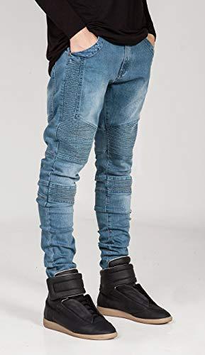 Trous Slim Pantalon Pour Denim Cassés Déchirés Blue Jeans En Lydianbaby Hommes À gnfZ4Aqxz