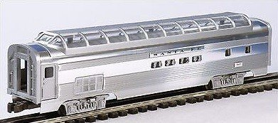 LIONEL TRAINS SANTA FE FULL VISTA DOME PASSENGER CAR ()