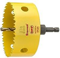 Starrett AVH0378 Bi-Metal Dual Pitch Professional Hole Saw with Quickshot Arbor, HSS Teeth, 3-7/8