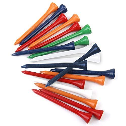 (Afco 300Pcs 69mm 2-5/8inch Mixed Color Wooden Golf Tees Bumper Standard Golfing Tool Lightweight)