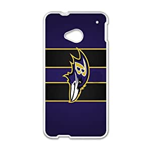 SKULL Baltimore Ravens Cell Phone Case for HTC One M7