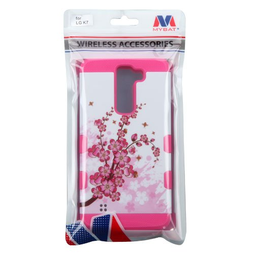 MyBat Cell Phone Case for LG K7 Tribute 5 - Retail Packaging - Spring Flowers/Electric Pink
