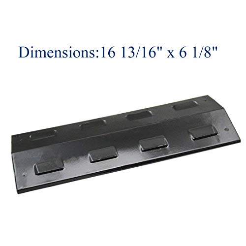 """Bigbox 16 13/16"""" Porcelain Steel Heat Plate, Heat Shield, Burner Cover, Heat Tent Replacement for Select Gas Grill Models by Aussie, Charbroil, Thermos and BBQ Pro."""
