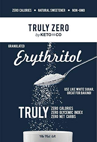 Truly Zero Erythritol Sweetener - All Natural Non GMO Zero Calorie Zero Glycemic Index Zero Net Carbohydrate Sugar Alternative