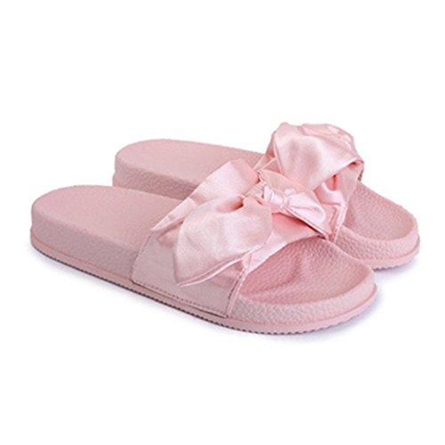 Amkun - Sandalias de vestir de Material Sintético para mujer rosa palo